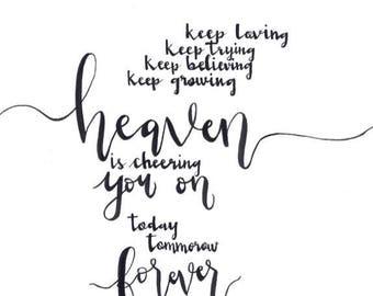 Heaven is Cheering You On