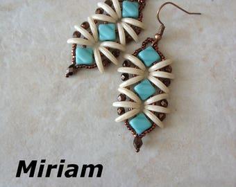Miriam earrings beading pattern
