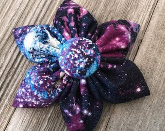 Glitter Galaxy Printed Hairbow