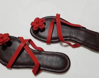 Cayasso Two Strap Single Flower Slippers