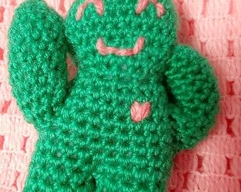 green love heart smiling plushie