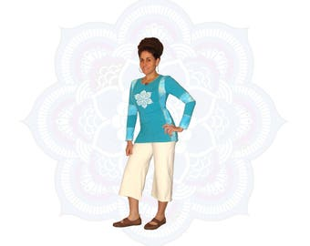 Organic tops - Organic Cotton and Soy Blend Terry Tunic Top - One of a Kind Ready to ship in Medium (can fit small also)