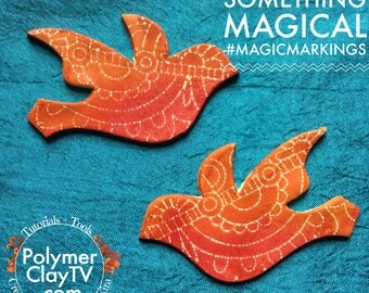 Magic Markings Polymer Clay Tutorial Faux Batik Look Easy how to