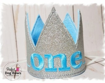 Dog Birthday Hat Crown, Dog King Crown, Birthday Hat for Dogs, Silver Mini Crown, Gotcha Day, Cake Smash, Dog Birthday Party, Photo Prop