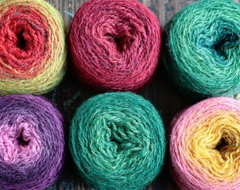 Pure wool knitting yarn - 6 x 32 g
