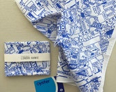 Central London Map Hankie screenprinted cotton handkerchief