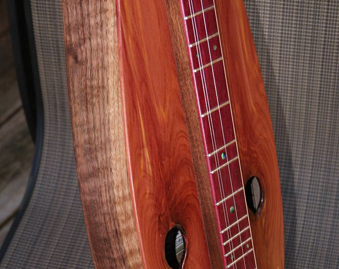 Custom Red-cedar 4-string Tear-drop Mountain Dulcimer - optional electric