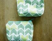 knit linen pouch