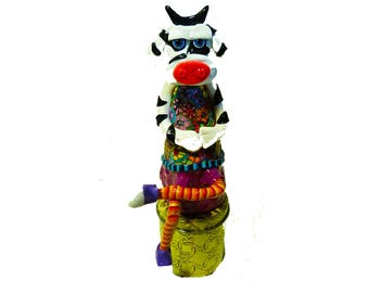 Modern Cow sculpture, Cow shelf sitter, cow decor, Cow decoration, whimsical cow, Collectible Cow, cow design, happy cow, Funny Cow, Cow Art