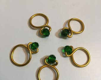 Shamrock Green Loop Snagless Stitch Markers