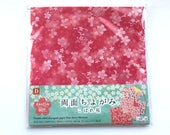 Japanese  Paper 4 Patterns 60 Sheets 15 x 15 cm Cherry Blossom Paper Double Sided Designed Chiyogami Paper (P27)