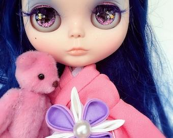 "Custom Blythe Doll OOAK Kimono girl ""Mizu"" ~  by Jenny Lee of JennyLovesBenny"