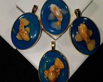 Gold Koi Pendant