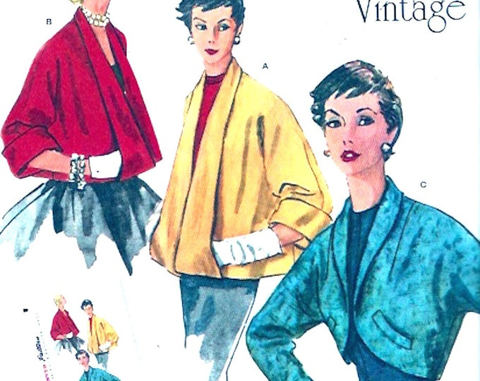 50s Rockabilly Vintage re issue sewing pattern Jacket swing coat Simplicity 1319 Mid century retro style Size 14 to 22 UNCUT