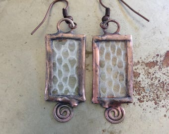 Snake Skin Earrings St Patrick Druid Spiral Jewelry