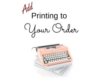 Print Your Sticker Order - Add On Listing