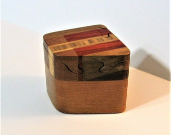 Puzzle Box Made Of Six woods