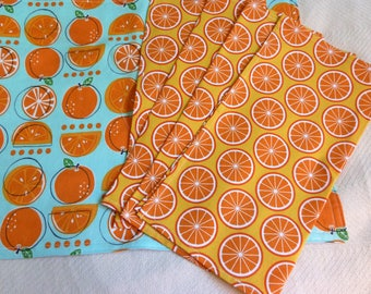 Juicy Citrus Placemats and Napkins Set of 4 Ready to Ship Immediately