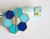 hexie enamel pin crafty enamel pin hard enamel pin enamel pin set sewing enamel pin pingame craft enamel pin cute enamel pin BLUE