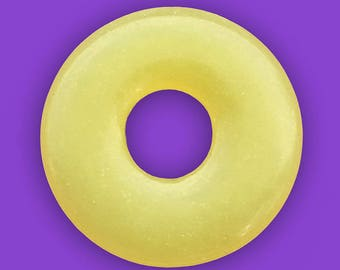 20mm New Jade Donut Bead, About 20mm x 20mm with a 6.5mm hole - Lt2
