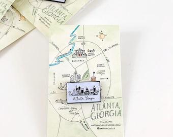 Atlanta Skyline Enamel Pin