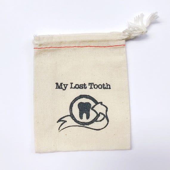 Tooth fairy pouch. lost tooth bag.