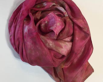 Christmas Silk Scarf or Playsilk, 35x35 inch