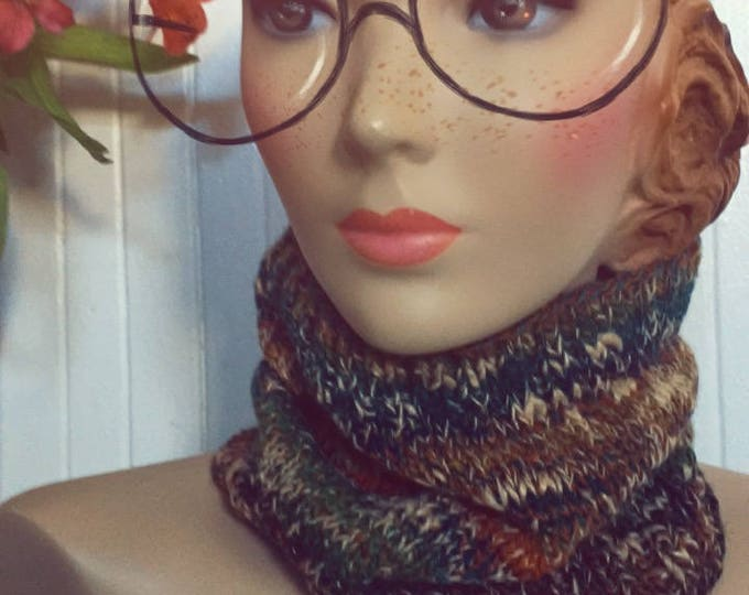 Woolpops Hand Knit Unisex Autumn Pullover Scarf