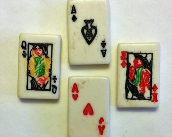 Playing Cards Bone Bead