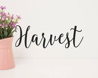 Thanksgiving Harvest Wall Decal, Fall Decor, Farmhouse Kitchen Wall Decorations, Vinyl Wall Decals, Autumn Sayings, Harvest Stickers Farmers