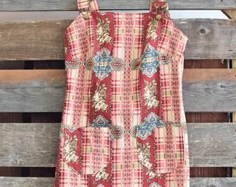 Overall dress, Americana Jumper, vintage jumper, Cotton Jumper, Womens Romper, Jumper Dress