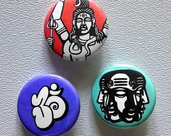 Shiva button pin set