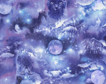 Mystic Cats BlueTimeless Treasures Fabric