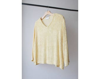 1990s Draped Knit Sweater Top