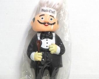 Magic Chef Coin Bank/ Vinyl Advertising Toy Doll