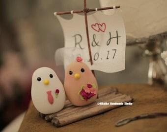 love birds  Wedding Cake Topper  (K301)