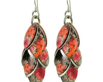 Boho Floral Petals to the Metal Earrings in Autumn Maple