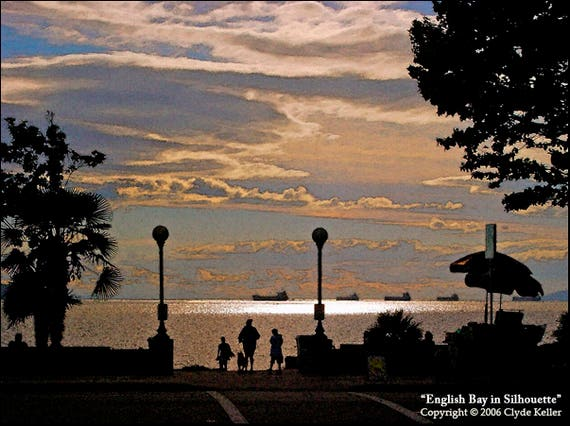 ENGLISH BAY in SILHOUETTE, Vancouver, Clyde Keller photo, 2006