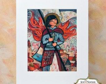 Joan of Arc Saint Wall Art Print, Confirmation Gift for girl