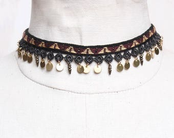 Lace choker necklace - ACE - Black or burgundy lace