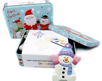 Snowman DIY Kit - Paint your own ornament - Snowman Kit - Christmas Kit - Make Your Own - Christmas Decoration - Craft Kit - Christmas Craft