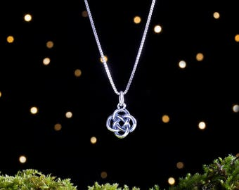 Sterling Silver 3D Celtic Love Knot - Small Double Sided - (Charm, Necklace, or Earrings)