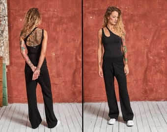Palazzo Pants, Thai Pants, Black Women Pants, Black Harem Pants, Wide Leg Pants, Hippie Pants, Boho Pants, Loose Pants, Elegant Pants