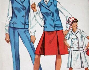 "Vintage 1960s Sewing Pattern, Simplicity 6886, Misses' Jacket or Sleeveless Jacket, Skirt and Slacks, Misses' Size 14, Bust 34"""
