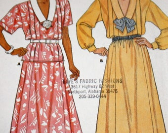 """Vintage 1980s Sewing Pattern, Butterick 3622, Misses' Top and Skirt, Misses' Size 8-10-12, Bust 31 1/2"""" to 34"""", UNCUT, FF"""