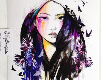 Dark Energy // NEW // A4+ Giclée print - fashion illustration by Holly Sharpe