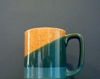 Vintage Stoneware Mug / Speckled Drip Glaze Coffee Mug / Retro Coffee Cup Vintage Kitchen
