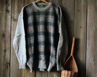 Ireland Sweater Wool Mens Shetland Crewneck Billy Kelly Vintage From Nowvintage on Etsy