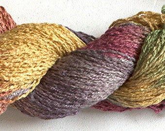 Parakeet, Hand-dyed Rayon Boucle Yarn, 225 yds -  Old Brass