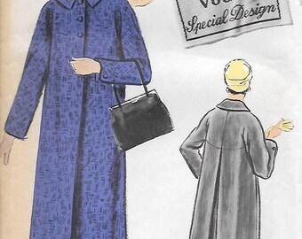 Vogue 4822 UNCUT 1950s Special Design Misses Coat Vintage Sewing Pattern Size 14 Bust 34